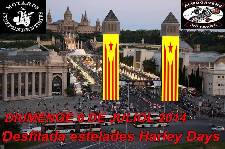Harleys suporting Catalan way.