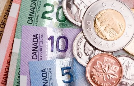 Colourful Canadian Money