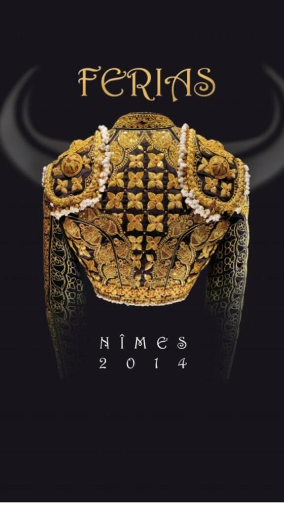 Cartel anunciador de las Ferias de Nimes 2014