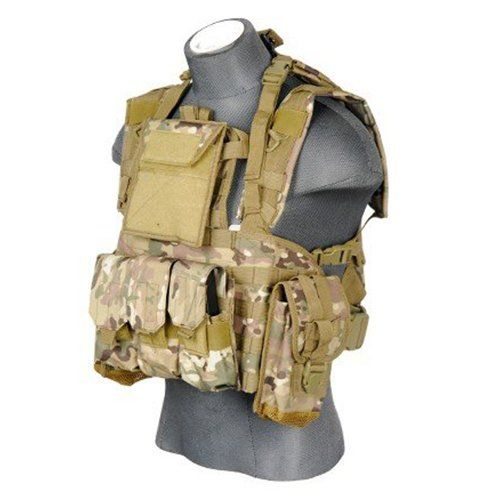 Best Chest Rig and Survival Gear Reviews: Digital Woodland Camouflage 7 Pocket Tactical Chest Rig -
