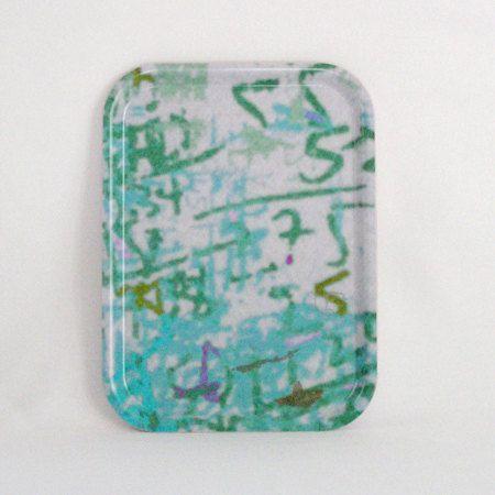 wood tv Tray  melamine plate  small rectangular  tray by Birribe