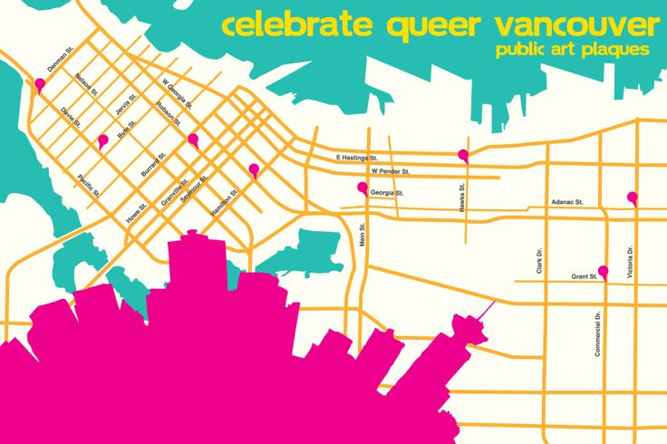 Celebrate Queer Vancouver: Chosen Family public art plaques   Chosen Family public art plaques installed on street lamp posts are a unique opportunity to connect with Vancouver's queer communities. Celebrate Queer Vancouver was the final component of Out On Screen's Queer History Project.