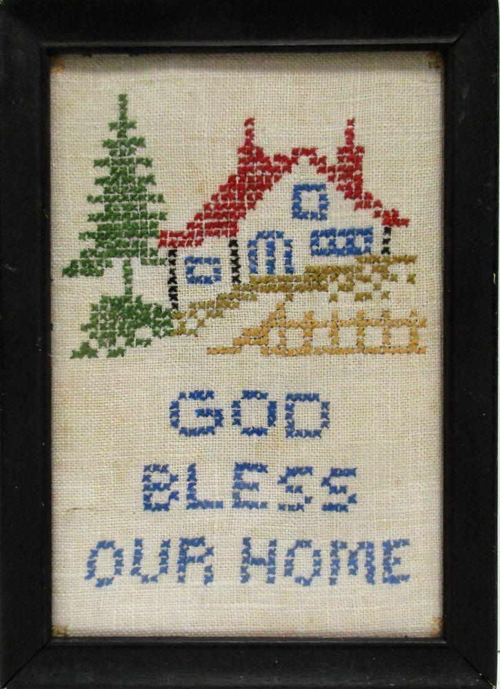 "Primitive Stitchery Pattern /""Home is where your story begins!/"""