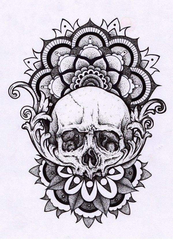 Mandalas De Calaveras Mexicanas Para Tatuaje Significado Y