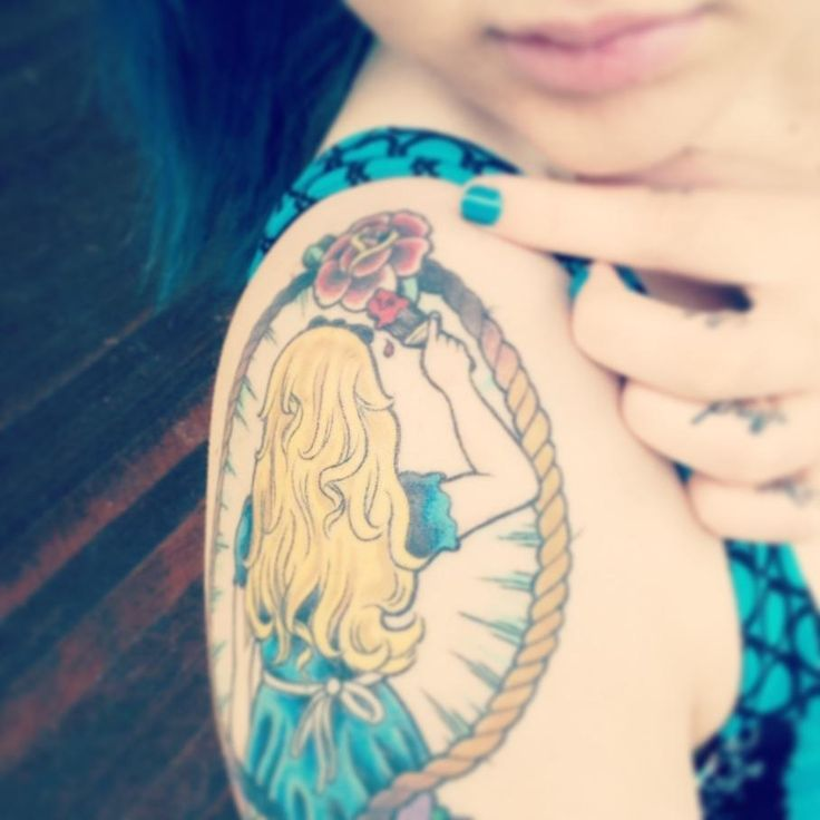 250 best images about disney tattoo on pinterest disney for Looking glass tattoos