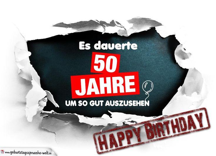 50. Geburtstag Lustige Geburtstagskarte kostenlos - Geburtstagssprüche-Welt