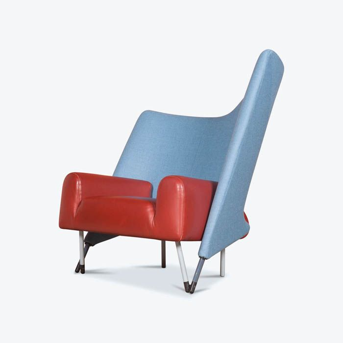 Torso Armchair by Paolo Deganello for Cassina in Original Leather, 1982, Italy