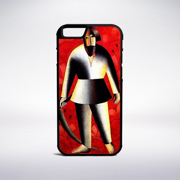 Kasimir Malevich - The Reaper On Red Phone Case – Muse Phone Cases
