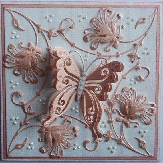 Butterfly Flower Frame Metal Cutting Dies DIY Craft Paper Card Making Embossing