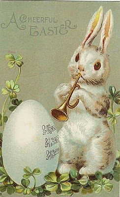 Cheerful Easter Bunny Postcard