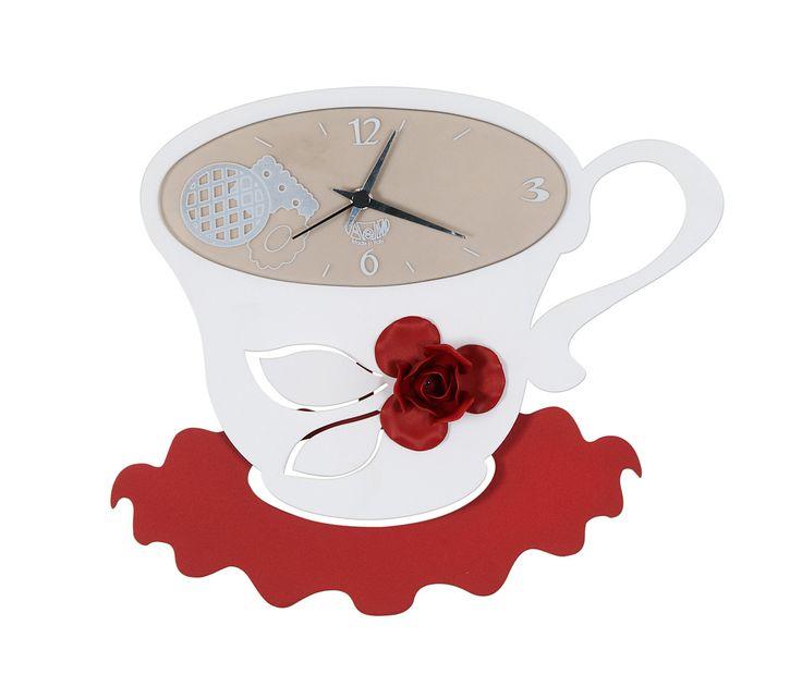 Horloges Cuisine Mod Le Tazza Coco Blanc D Coration