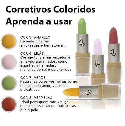'Cores opostas se complementam e na maquiagem se neutralizam'.            Veja como usar o corretivo vermelho  para esconder o vit...