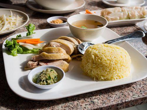 Hainan Chicken Rice at Pho Trend.