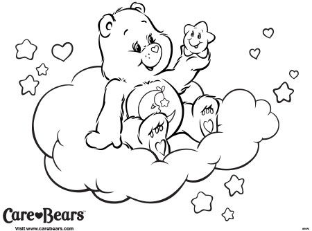 106 best images about care bears and friends on pinterest for Bedtime coloring pages