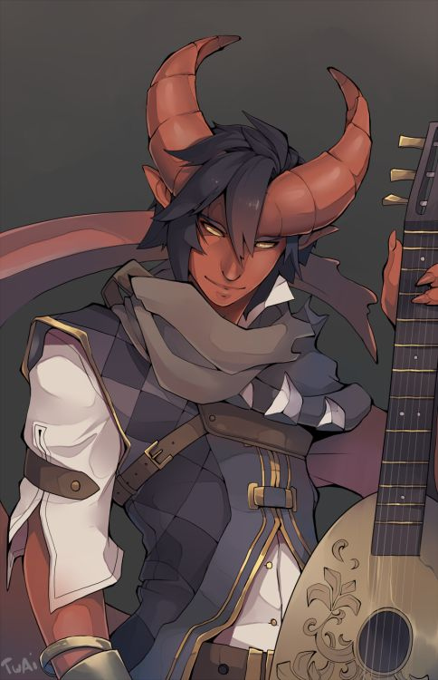 This perfectly fits a character I have that is a tiefling bard - Discord.