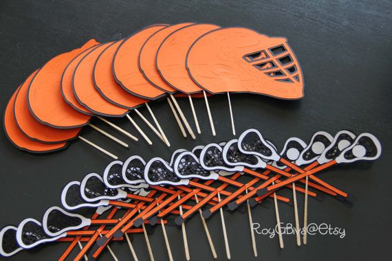 Lacrosse Cupcake Toppers by RoyGBivs on Etsy, $18.00