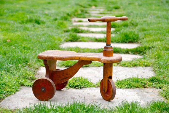 reserved listing for a antique kiddie kar wooden tricycle. Black Bedroom Furniture Sets. Home Design Ideas