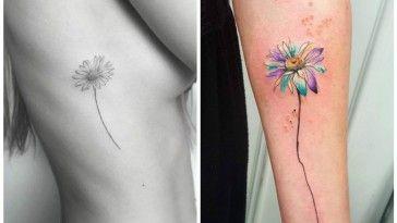 tatuaggi con margherite