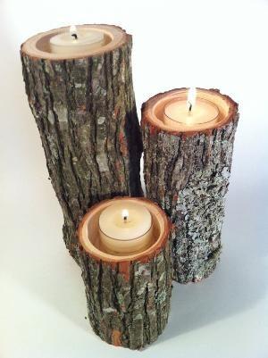 Cute Wood Candle Holders