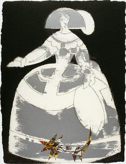 Manolo  Valdés, Las Meninas, 2000, Ten etchings with collage on handmade paper, Solomon R. Guggenheim Foundation, Venice, Gift in honor of the Peggy Guggenheim Collection by Sandro Rumney and Art of This Century 2000.108, © Manolo Valdés, by SIAE 2008