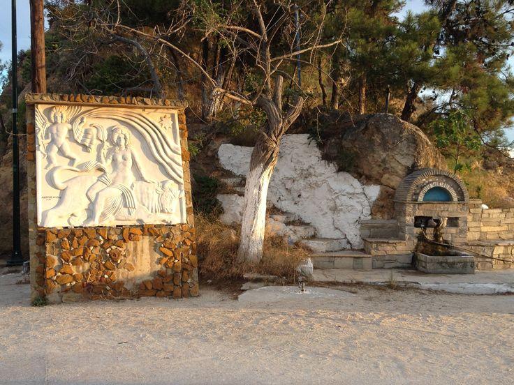 fresco in limenaria greece
