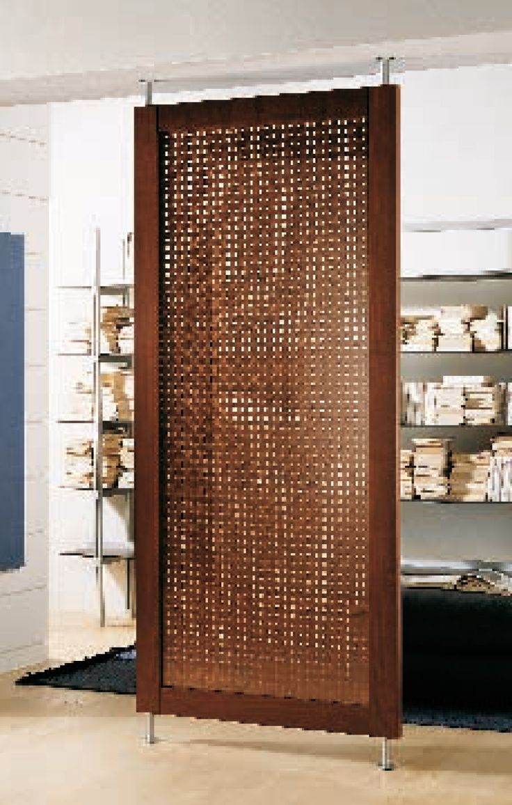 Tension mount room divider modernus room dividers for Door in the wall