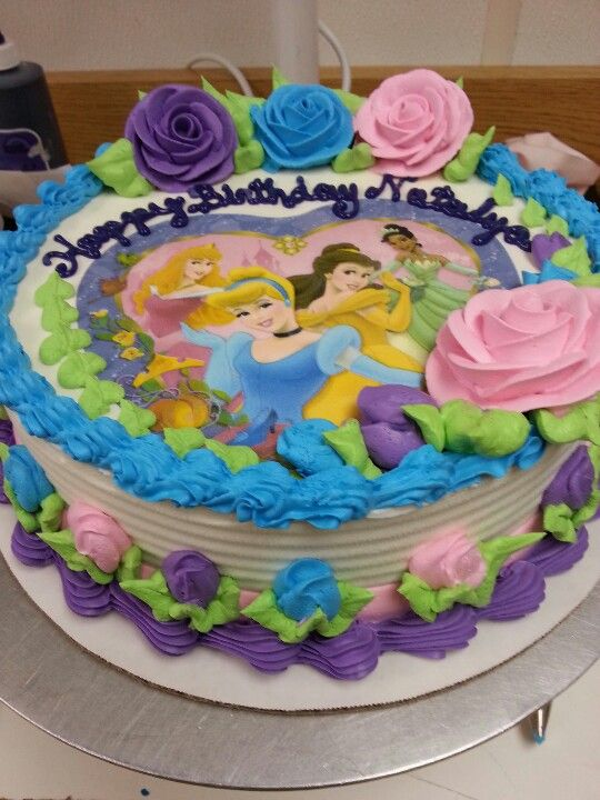 Dairy Queen Cake Disney Princesses Roses And Writing