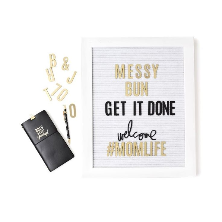 """I am a little jealous of all you people who can throw up a """"messy bun"""" 👍🏻 what helps you get in that """"get it done"""" mode?? ✅✅✅ Lists? Music? Monday? Nighttime? Deadlines?? What motivates you?? #heidiswapp #hsletterboard #hsmemoryplanner #bebold #momlife"""