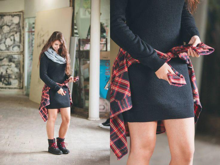 Element Alps Dress / Vans Obsession Flannel Shirt / Northface Ballard Lace Snowshoe