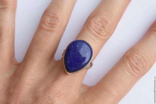 Кольца ручной работы. Ярмарка Мастеров - ручная работа. Купить Кольцо лазурит. Handmade. Тёмно-синий, кольцо с камнем