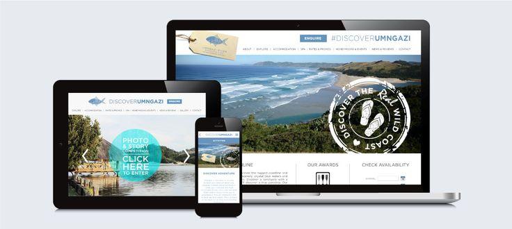 Umngazi River Bungalows & Spa: Responsive Website Design, Development and Management by Electrik Design Agency www.electrik.co.za
