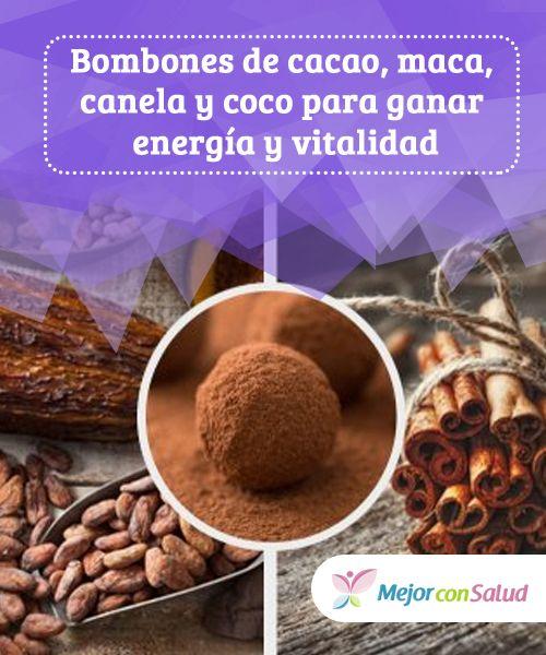 #Bombones de #cacao, maca, canela y coco para ganar #energía y vitalidad  Descubre las sorprendentes propiedades de estos bombones de cacao, maca, canela y coco para ganar energía y vitalidad de manera natural y placentera. #Recetas