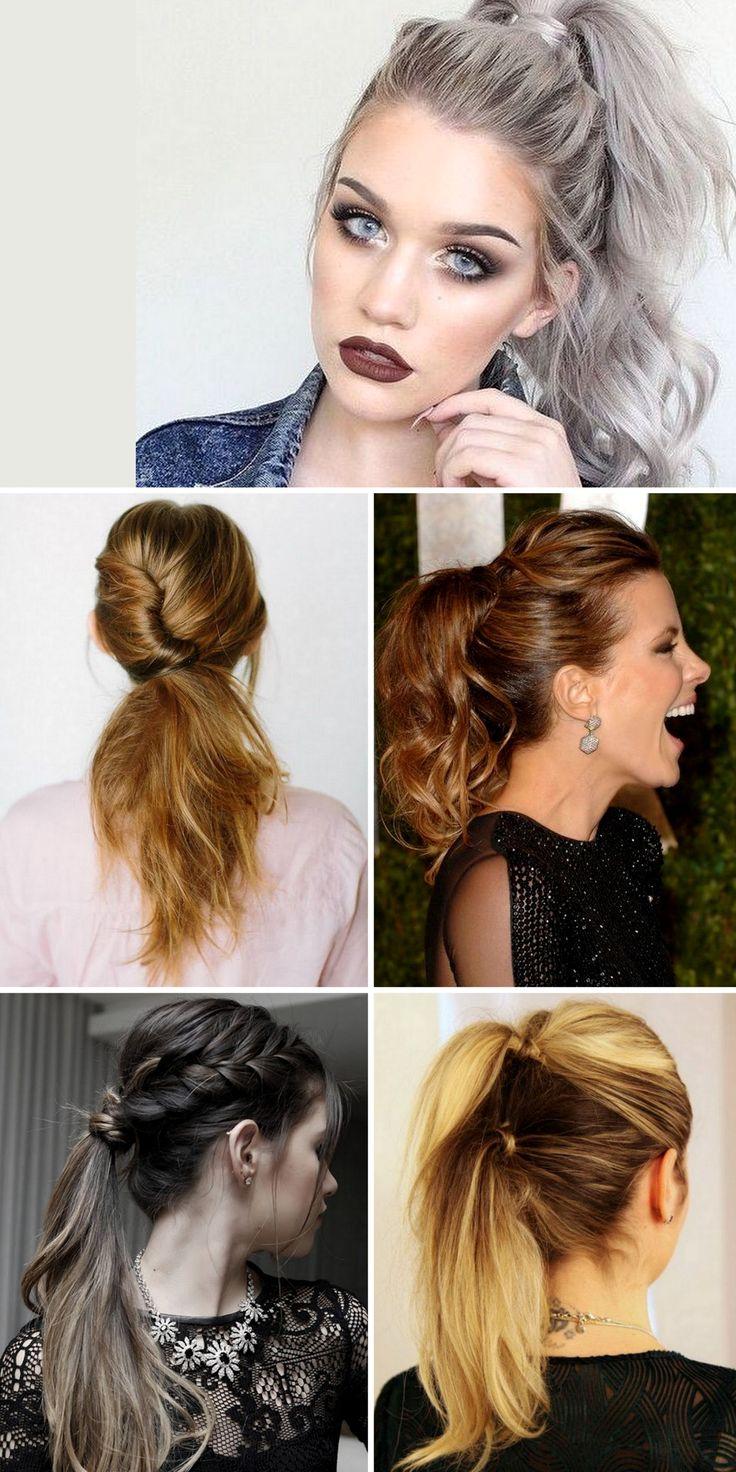 Elegant Ponytail Hairstyles for Special Occasions, party, wedding... Fotos de penteados com rabo de cavalo elegantes para ocasiões especiais como festas, formatura, casamento... #Hairstyle #Penteados #CabelosLindos