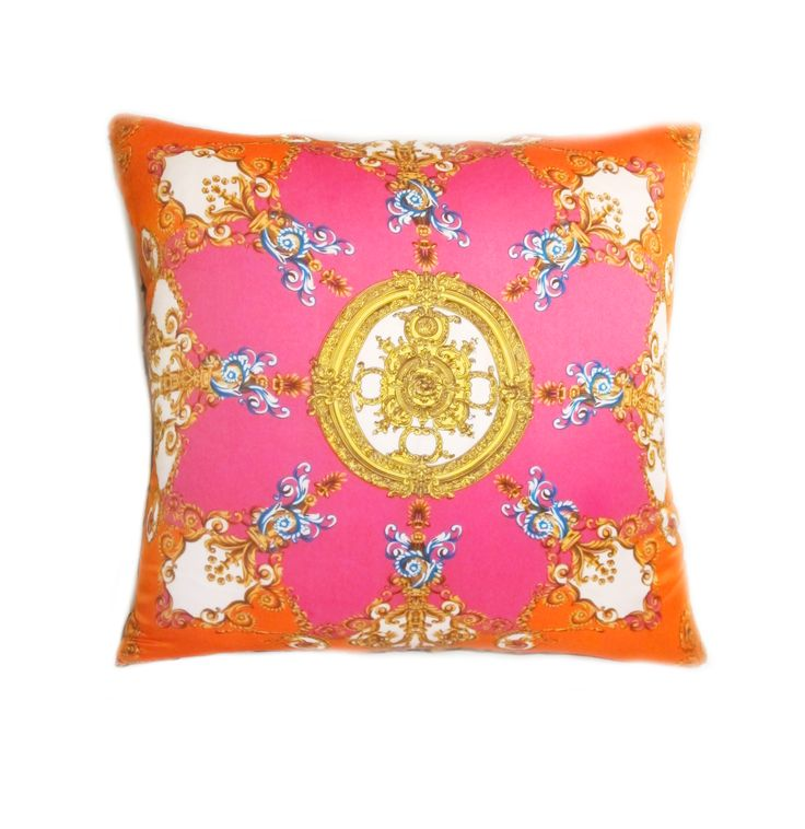 Hand stamped silk cushions, produced 45 units, all sold out.