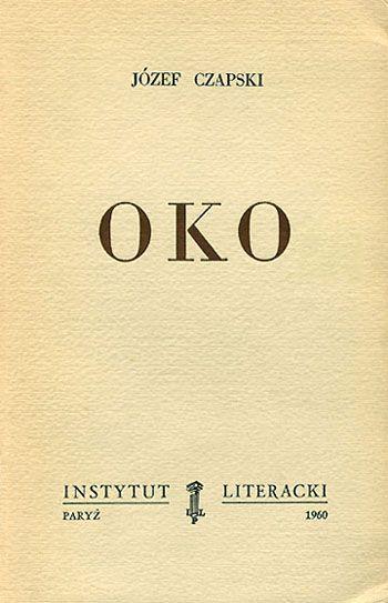 J. Czapski, raccolta di saggi sull'arte, L'occhio, Istituto letterario, Parigi 1960