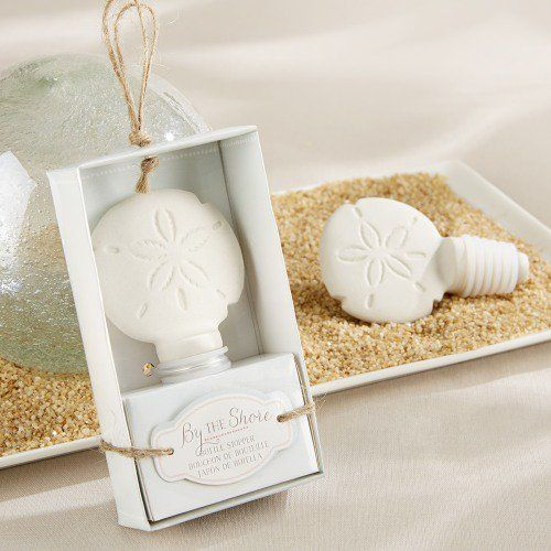 Ceramic Sand Dollar Bottle Stopper by Beau-coup