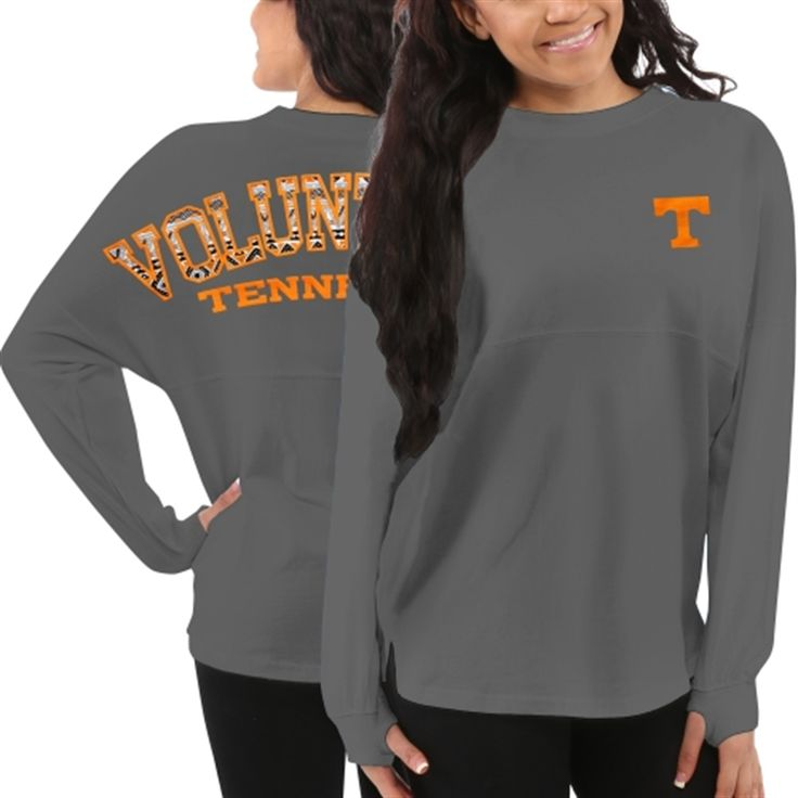 Women's Tennessee Volunteers Gray Aztec Sweeper Long Sleeve Top. Tennessee Vols, Clothing, Tshirt.