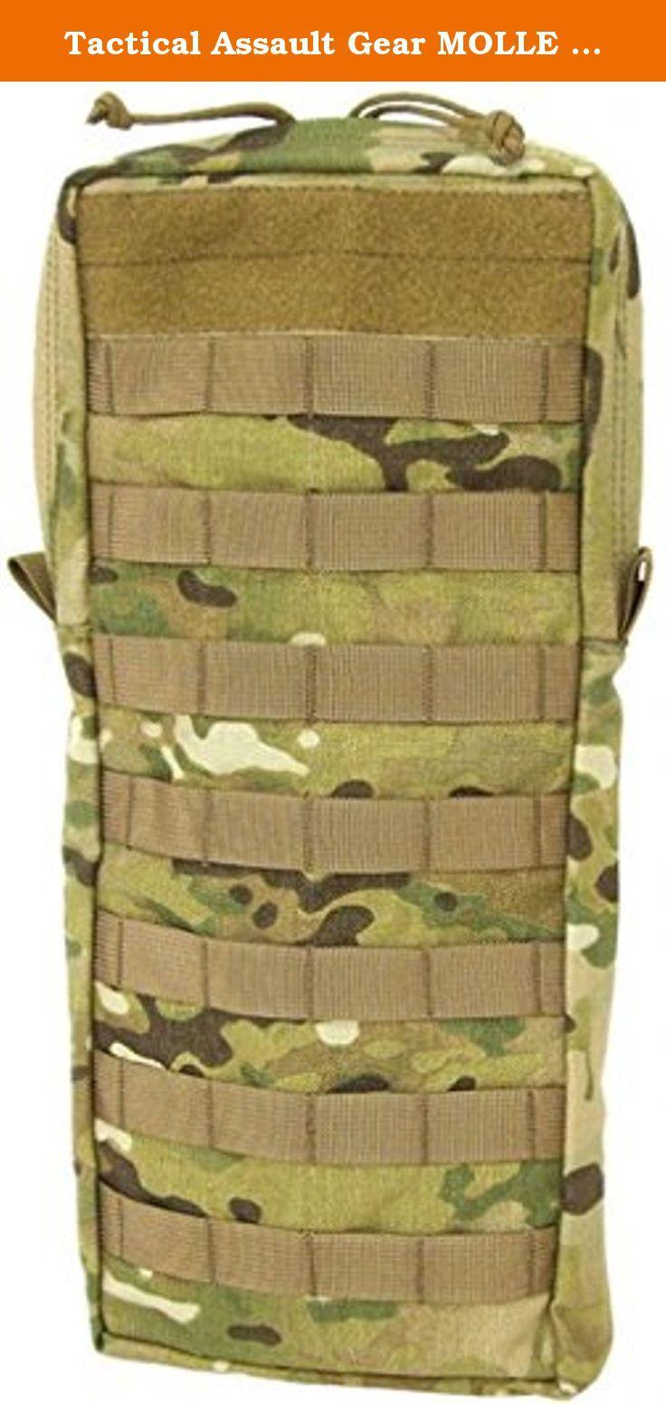 Tactical Assault Gear MOLLE Hydration 100oz Bladder Carrier, Large,. Tactical Assault Gear MOLLE Hydration 100oz Bladder Carrier, Large, Multicam.
