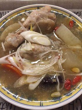 根菜入りの簡単サムゲタン(圧力鍋)