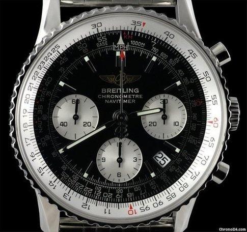 Breitling Navitimer Chronographe SS Black & White Dial Stortford Bishop, Royaume-Uni - JamesEdition.com