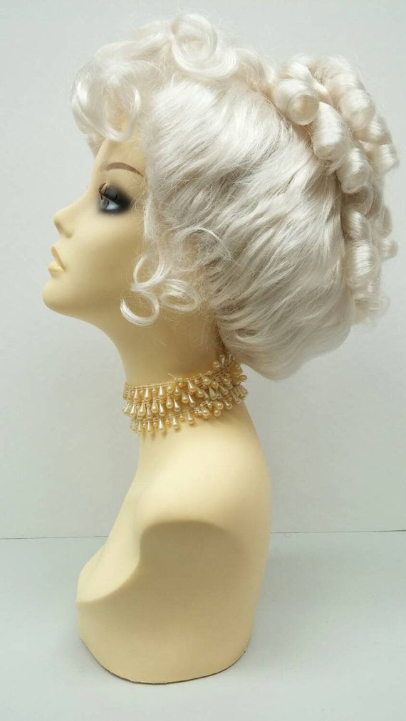 Platinum Blonde Victorian Costume Wig. Colonial by ParamountWigs