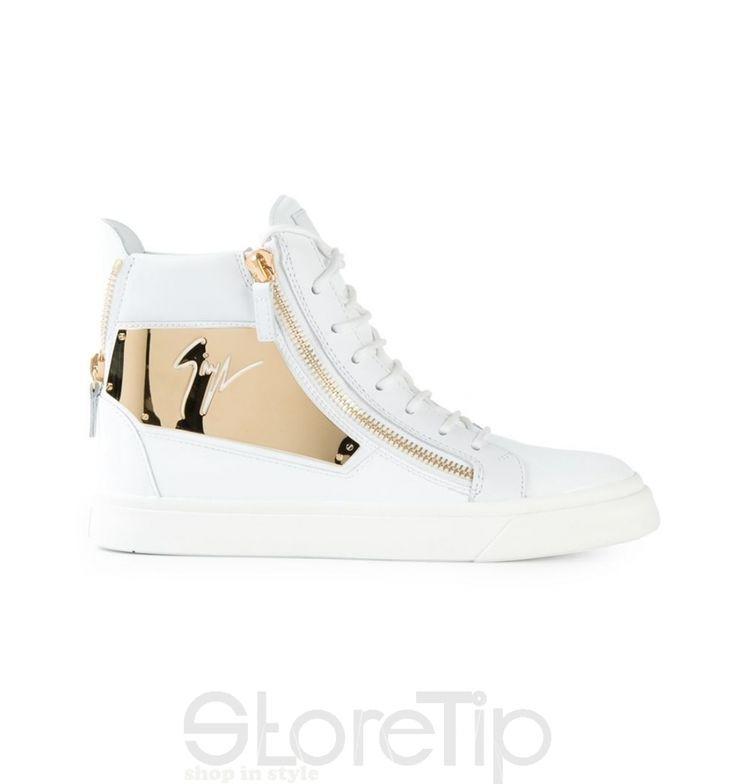 Giuseppe Zanotti Design Zip Detail Hi-Top Sneakers - StoreTip