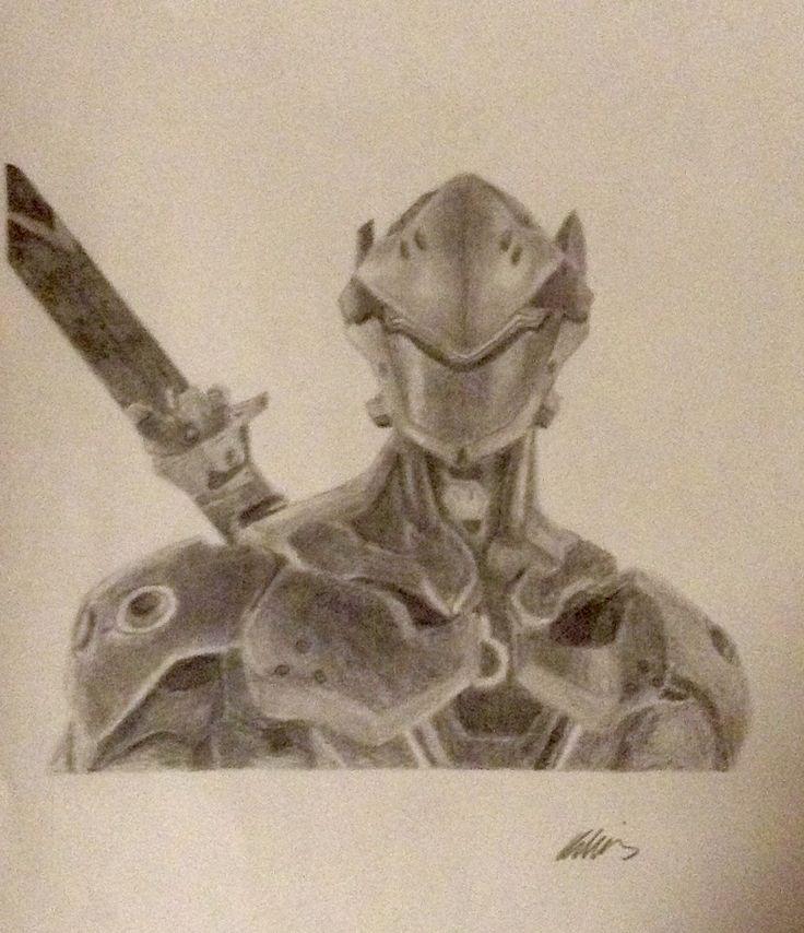 Overwatch-Genji drawing