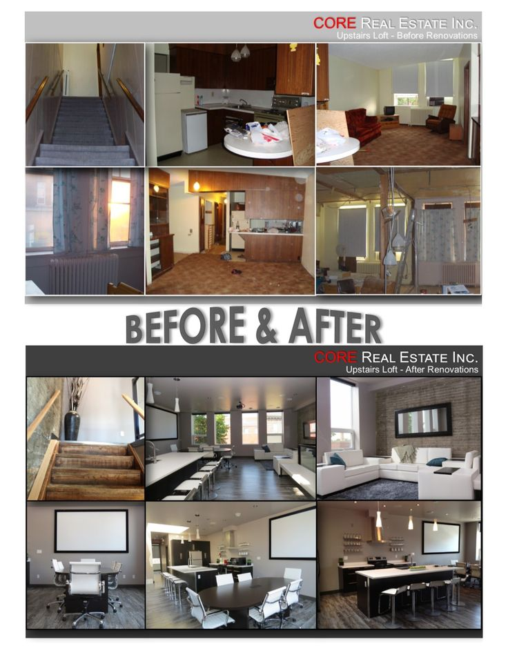 Before and After. Sleek and modern. Transformation. CORE