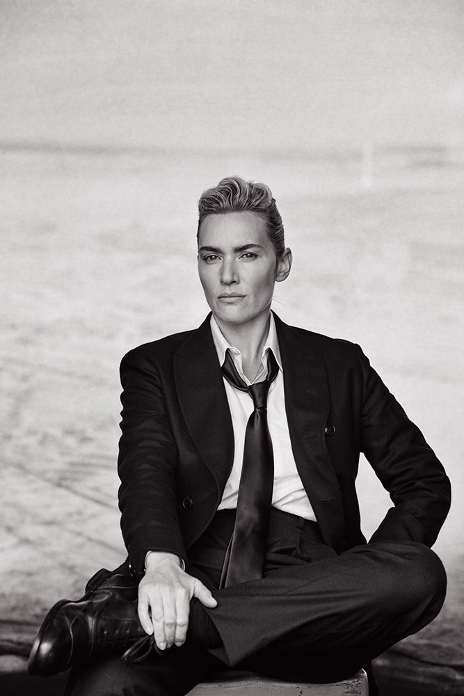 Kate Winslet for L'Uomo Vogue by Peter Lindbergh.
