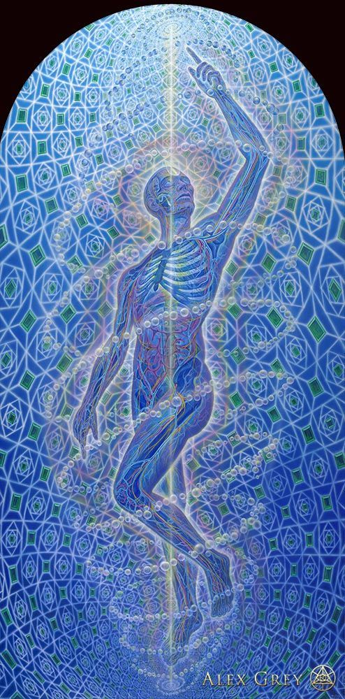 Alex Grey paintings #painting #kitsch #psychedelism: