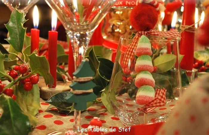 Les 43 meilleures images propos de tables en fete sur - Decoration table de noel ...