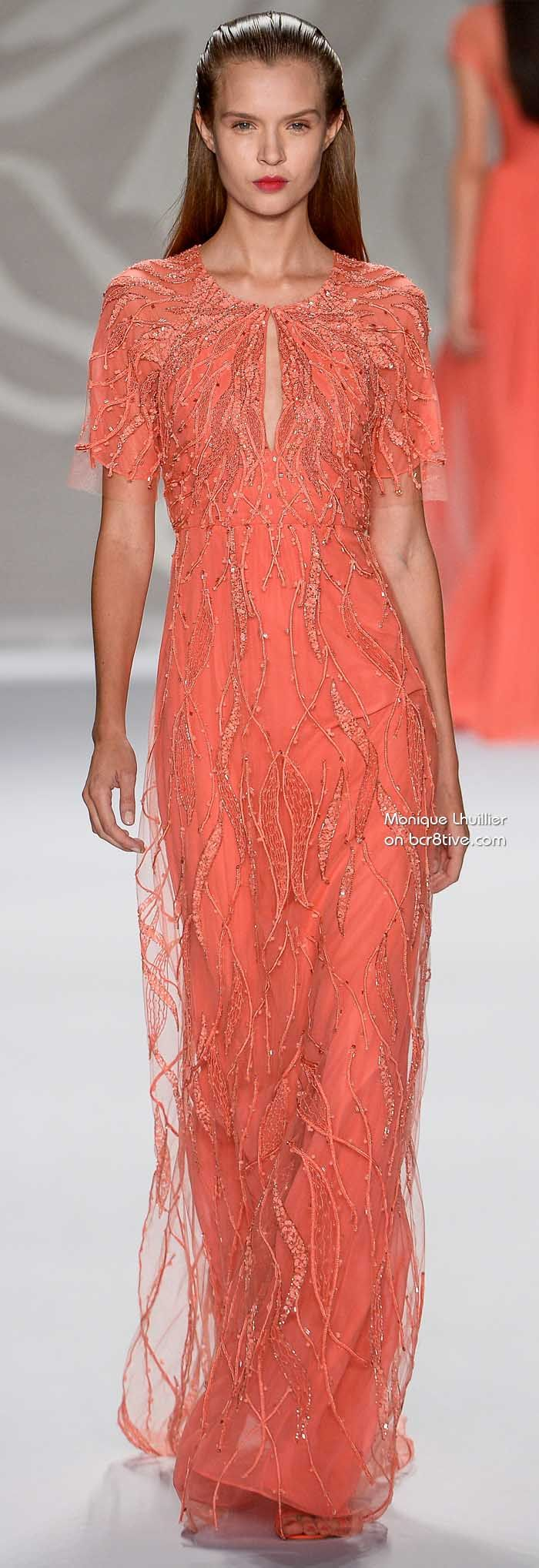Monique Lhuillier Spring 2014 #NYFW