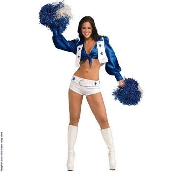 Dallas Cowboys Cheerleaders Deluxe Sexy Dallas Cowboys Cheerleader Adult Costume  $39.06