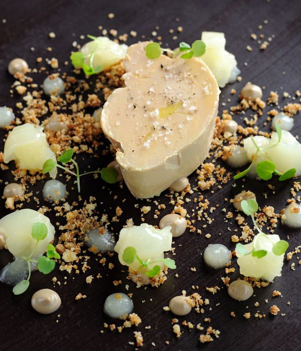A heavenly combination from Adam Simmonds; foie gras and apples are divine, and the addition of walnuts is perfect to add further flavour and texture.